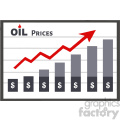 royalty free rf clipart illustration board graph chart for petroleum or oil growth dollar prices vector illustration isolated on white background
