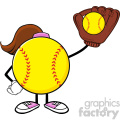 softball girl faceless cartoon character holding a bat and glove with ball vector illustration isolated on white background gif, png, jpg, eps, svg, pdf