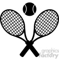 crossed racket and tennis ball black silhouette vector illustration isolated on white  gif, png, jpg, eps, svg, pdf