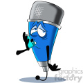 cartoon microphone mascot character sick  gif, png, jpg, eps, svg, pdf