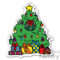 christmas tree sticker  gif, png, jpg, eps, svg, pdf