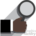 african american hand holding a magnifying glass flat design vector art no background