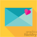 love letter envelope sealed with a heart vector icon art