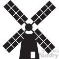 windmill vector icon art