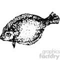 vintage distressed flounder fish gf vector design vintage 1900 vector art gf  gif, png, jpg, eps, svg, pdf