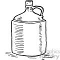 vintage moonshine jug vector vintage 1900 vector art GF