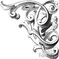 vintage distressed vintage wood corner carving right ornament GF vector design vintage 1900 vector art GF