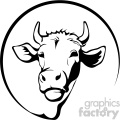 farming dairy cow svg cut file vector outline
