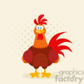 cute red rooster bird cartoon vector flat design with background  gif, png, jpg, eps, svg, pdf