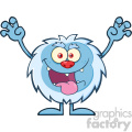 scary yeti cartoon mascot character with open arms and mouth vector  gif, png, jpg, eps, svg, pdf