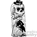 jose guadalupe posada skull vector art 1900 day of the dead  gif, png, jpg, eps, svg, pdf