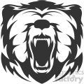 bear head vector art