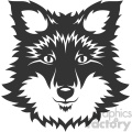 wolf husky dog head vector art