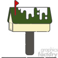 Postbox flat vector icon design