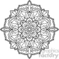 mandala outline vector art