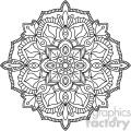 mandala outline vector art