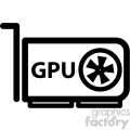 video graphics card gpu icon