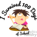 I survived 100 days of school vector art