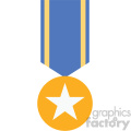 ribbon award medal vector icon