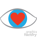 love eye icon