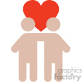 relationship valentines vector icon