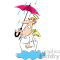 cartoon angel mad about the rain