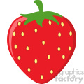 Royalty Free RF Clipart Illustration Strawberry Fruit Cartoon Drawing Flat Design Vector Illustration Isolated On White Background