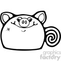 cartoon clipart gumdrop animals 001 bw
