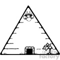 egyptian pyramid 001 bw