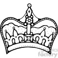 black white clipart crown