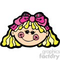 small girl with blond hair vector art