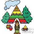 native american cartoon vector art