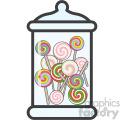 lollipop jar vector royalty free icon art