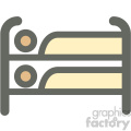 bunk loft bed furniture icon