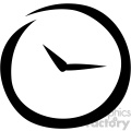 clock timer vector flat icon