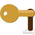 key in lock vector flat icon