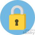 padlock circle background vector flat icon