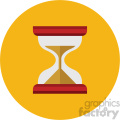 hourglass circle background vector flat icon
