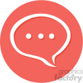 chat circle background vector flat icon