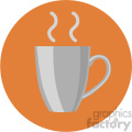 coffee cup circle background vector flat icon