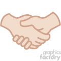 white hands handshake vector icon