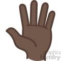 hello african american hand vector icon