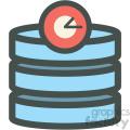 cron database backup website hosting vector icons