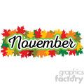 november header vector label