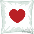 throw pillow with heart for valentines