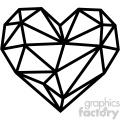 geometric heart vector art