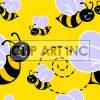 Tiled seamless bee background