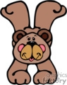 Cartoon bear doing a handstand