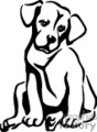 pet pets dog dogs puppies   animal_ss_bw_024 clip art animals dogs  gif