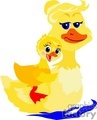 a mom duck with her duckling gif, jpg